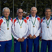 Bitsy Grant Cup Bronze Medalist, France, left to right, Henri Crutchet, Pierre Court, Tadee Polak, Gilles Thibaut during the 2009 ITF Super-Seniors World Team and Individual Championships at Perth, Western Australia, between 2-15th November, 2009.