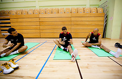 Daniel Vujasinovic, Goran Dragic - Gogi and Nebojsa Joksimovic during practice session of Slovenian National Basketball team during training camp for Eurobasket Lithuania 2011, on July 12, 2011, in Arena Vitranc, Kranjska Gora, Slovenia. (Photo by Vid Ponikvar / Sportida)