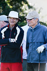 """Feb 6, 2019 Pebble Beach, Ca. USA TV, Film and singing stars that included Winners, CLINT EASTWOOD and BILL MURRAY whom played in the """"3M Celebrity Challenge"""" to try for part of the 100K purse to go to their favorite charity and win the Estwood-Murray cup, for which team Clint Eastwwod's group won.. The event took place during practice day of the PGA AT&T National Pro-Am golf on the Pebble Beach Golf Links. Photo by Dane Andrew c. 2019 contact: 408 744-9017  TenPressMedia@gmail.com"""