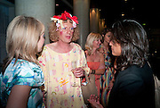 GRAYSON PERRY, Yinka Shonibare party to  celebrate the unveiling of Nelson's Ship in  a bottle in Trafalgar Sq. London. ICA.  24 May 2010. -DO NOT ARCHIVE-© Copyright Photograph by Dafydd Jones. 248 Clapham Rd. London SW9 0PZ. Tel 0207 820 0771. www.dafjones.com.