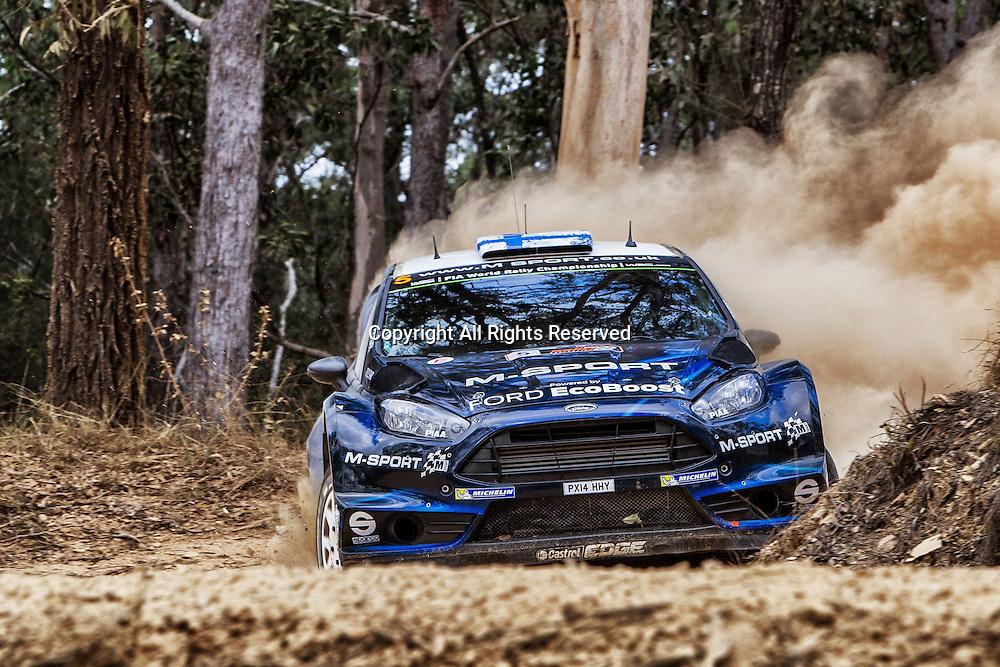 14.09.2014. Coffs Harbour, NSW, Australia.  Mikko Hirvonen (FIN) / Jarmo Lehtinen (FIN)- Ford Fiesta WRC . Coffs Harbour, final day of rally.