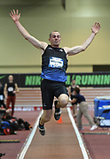 Mar 3, 3017; Albuquerque, NM, USA; Thomas FitzSimons jumps 21-9 1/2 (6.64m) in the heptathlon long jump during the USA Indoor Track and Field championships at the Albuquerque Convention Center.