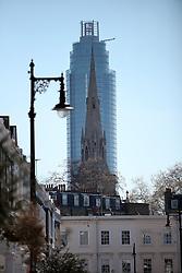 UK ENGLAND LONDON 21APR15 - A new residential tower development dwarfs an old church spire in Vauxhall, London.<br /> <br /> <br /> <br /> jre/Photo by Jiri Rezac<br /> <br /> <br /> <br /> © Jiri Rezac 2015