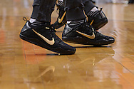 PHOENIX, AZ - APRIL 13:  A detail view of the Nike sneakers worn by Devin Booker (1) and Archie Goodwin (20) of the Phoenix Suns during warm ups prior to the game against the Los Angeles Clippers at Talking Stick Resort Arena on April 13, 2016 in Phoenix, Arizona.  NOTE TO USER: User expressly acknowledges and agrees that, by downloading and or using this photograph, User is consenting to the terms and conditions of the Getty Images License Agreement.  (Photo by Jennifer Stewart/Getty Images)