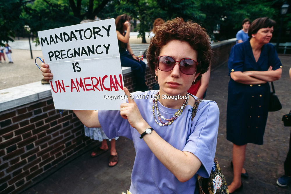 Pro-rights abortion protestor