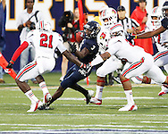 FIU Football Vs. Louiville Cardinals.  Game was played at Alphonso Horner Field at FIU.  The Golden Panthers Lost to the Cardinals 28-21.