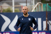 14th September 2019; Dens Park, Dundee, Scotland; Scottish Championship, Dundee Football Club versus Alloa Athletic; Jordon Forster of Dundee during the warm up before the match