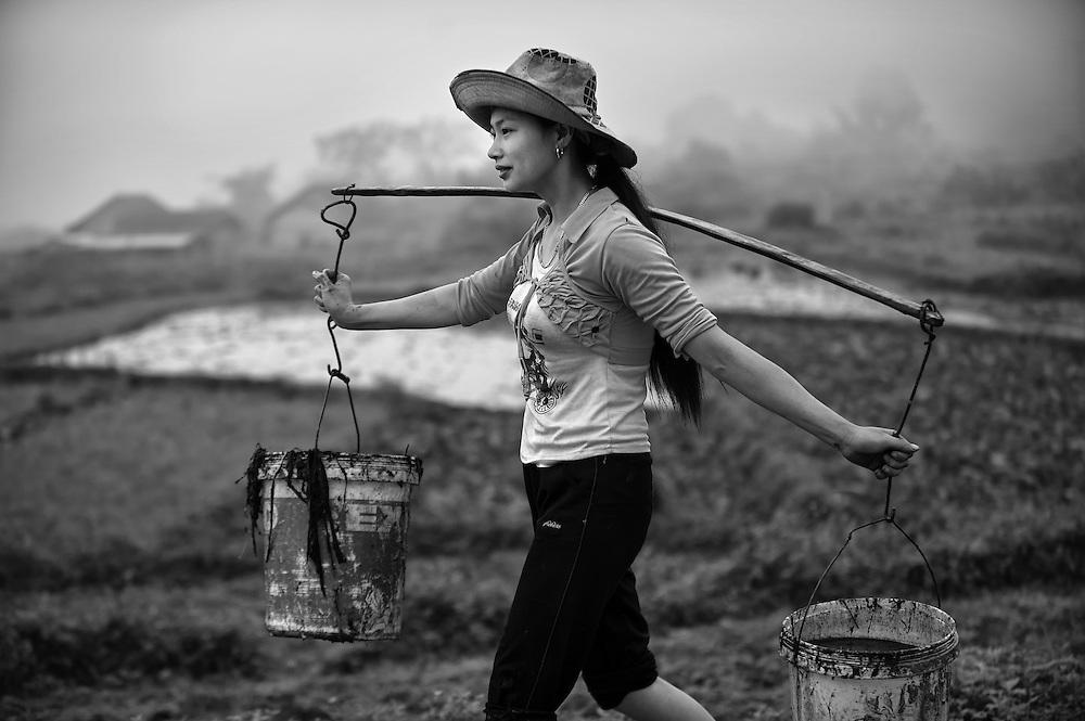 Using farm waste as fertilizer in Ha Giang, Vietnam.
