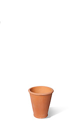 Terracotta Plant pot on white