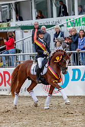 BUSCH-KUFFNER Antonia (GER), Double Diamond AK<br /> Warendorf - Bundeschampionate 2019<br /> Parade der Sieger<br /> Bundeschampion 6 jährige Dressurponys<br /> 08. September 2019<br /> © www.sportfotos-lafrentz.de/Stefan Lafrentz