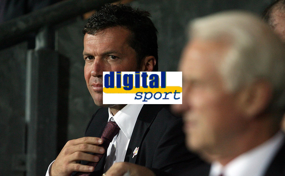 Photo: Paul Thomas.<br /> Blackburn Rovers v SV Red Bell. UEFA Cup. 28/09/2006.<br /> <br /> Lothar Matthaus, assistant manager of Salzburg.