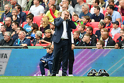 May 27, 2019 - London, England, United Kingdom - Aston Villa Manager Dean Smith during the Sky Bet Championship match between Aston Villa and Derby County at Wembley Stadium, London on Monday 27th May 2019. (Credit: Jon Hobley | MI News) (Credit Image: © Mi News/NurPhoto via ZUMA Press)
