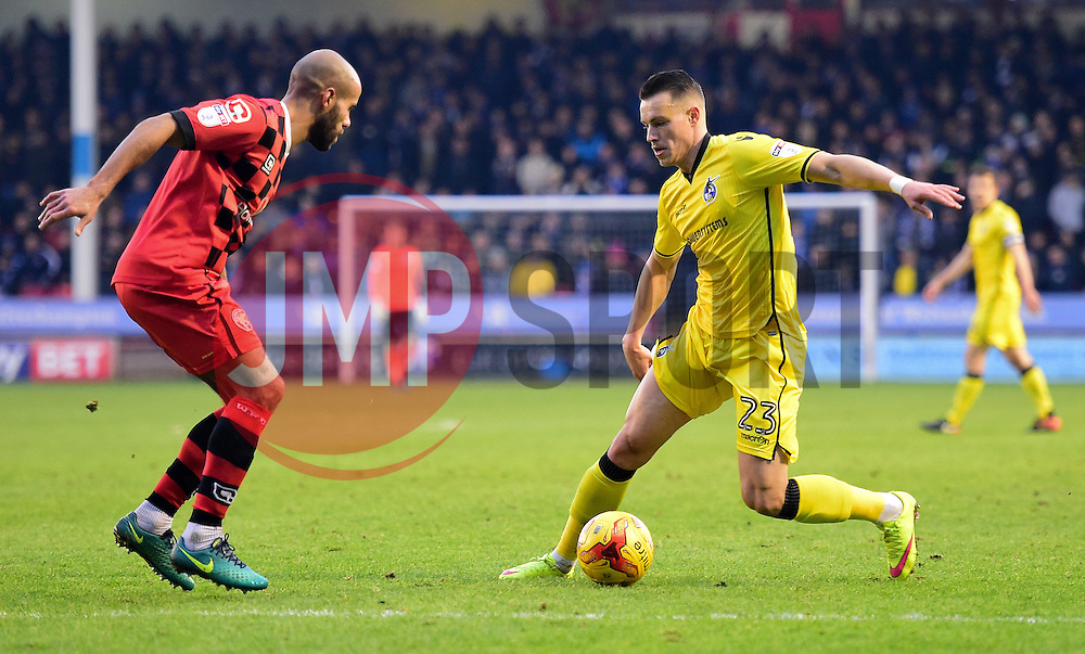 Billy Bodin of Bristol Rovers attacks inside the Walsall half. - Mandatory by-line: Alex James/JMP - 21/01/2017 - FOOTBALL - Banks's Stadium - Walsall, England - Walsall v Bristol Rovers - Sky Bet League One