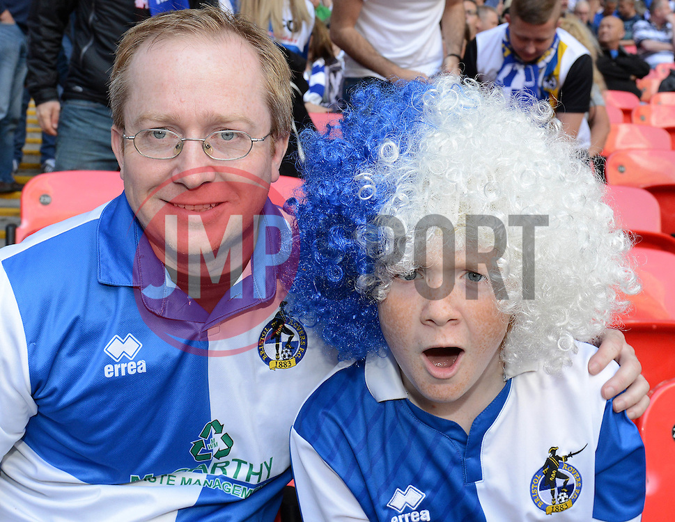 Bristol Rovers fans - Photo mandatory by-line: Dougie Allward/JMP - Mobile: 07966 386802 - 17/05/2015 - SPORT - football - London - Wembley Stadium - Bristol Rovers v Grimsby Town - Vanarama Conference Football