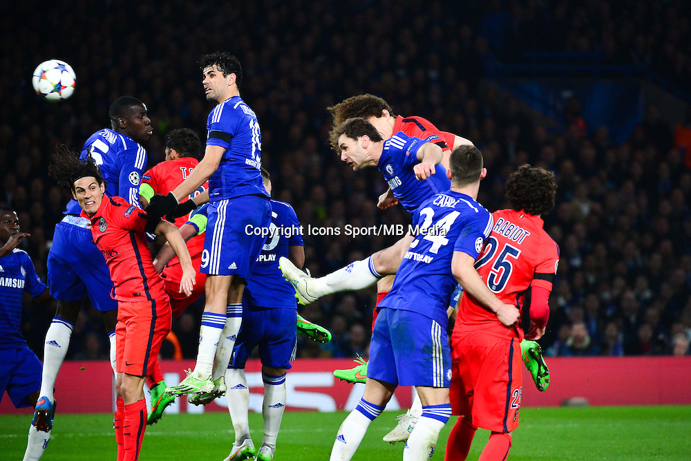 Goal David LUIZ - 11.03.2015 - Chelsea / Paris Saint Germain - 1/8Finale retour Champions League<br /> Photo : Dave Winter / Icon Sport
