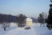Saint Petersburg, Russia, Pavlovsk park, Temple of Friendship in winter