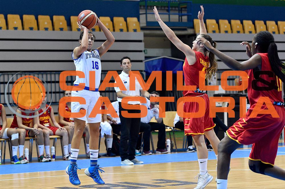 DESCRIZIONE : Celje U20 Campionato Europeo Femminile Semifinale Italia Spagna European Championship Women Semifinal Italy Spain <br /> GIOCATORE : Maria Ortolani<br /> CATEGORIA : tiro<br /> SQUADRA : Italia Italy<br /> EVENTO : Celje U20 Campionato Europeo Femminile Semifinale Italia Spagna European Championship Women Semifinal Italy Spain<br /> GARA : Italia Spagna Italy Spain<br /> DATA : 08/08/2015<br /> SPORT : Pallacanestro <br /> AUTORE : Agenzia Ciamillo-Castoria/Max.Ceretti<br /> Galleria : Europeo Under 20 Femminile <br /> Fotonotizia : Celje U20 Campionato Europeo Femminile Semifinale Italia Spagna European Championship Women Semifinal Italy Spain<br /> Predefinita :