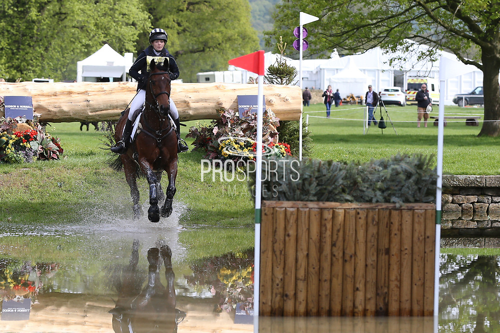 Julia Norman riding Carryon Bobby Boy during the International Horse Trials at Chatsworth, Bakewell, United Kingdom on 13 May 2018. Picture by George Franks.