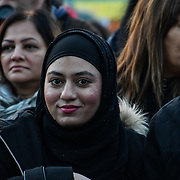Thousands attend the Mayor of London celebrates the Festival of Lights with Diwali in Trafalgar Square on 28 October 2018, London, UK.