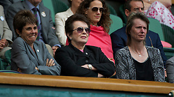 LONDON, ENGLAND - Saturday, July 2, 2011: Billie Jean King watches the Ladies' Doubles Final match on day twelve of the Wimbledon Lawn Tennis Championships at the All England Lawn Tennis and Croquet Club. (Pic by David Rawcliffe/Propaganda)