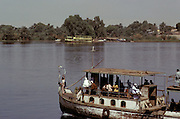A boat on the Nile River Egypt