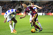 \i30 taking on Queens Park Rangers defender James Perch (24) during the EFL Sky Bet Championship match between Queens Park Rangers and Ipswich Town at the Loftus Road Stadium, London, England on 2 January 2017. Photo by Matthew Redman.