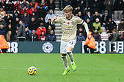 Brandon Williams (53) of Manchester United on the attack during the Premier League match between Bournemouth and Manchester United at the Vitality Stadium, Bournemouth, England on 2 November 2019.