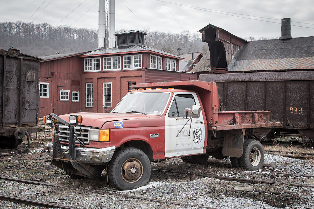 This worn truck was the only motive power not put away for the winter at Orbisonia.