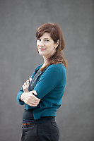 A portrait of Stef Penny at the Edinburgh International Book Festival 2012 in Charlotte Square Gardens<br /> <br /> Pic by Pako Mera