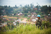 Nepalese peacekeeper on a hilltop in Kanyabayonga, Democratic Republic of Congo on Thursday December 11, 2008.