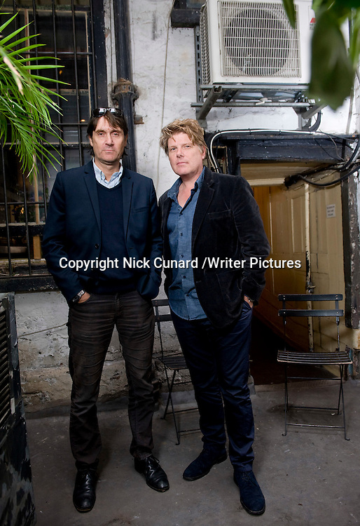 Rob Wade and Neal Purvis, screenwriters<br /> Photographed at 46 Lexington St, London<br /> 12th October 2012<br /> <br /> Picture by Nick Cunard/Writer Pictures<br /> <br /> WORLD RIGHTS