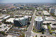 Aerial Photo over Von Karmen Ave. in Irvine California