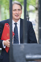 Downing Street, London, June 14th 2016. Foreign Secretary Philip Hammond arrives at 10 Downing Street to attend the weekly cabinet meeting.