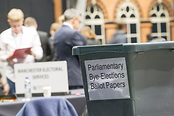 "© Licensed to London News Pictures . 15/11/2012 . Manchester , UK . Ballot box with "" bye-elections "" on the side being unloaded at the count . By elections in Manchester Central and Ardwick and Greater Manchester Police and Crime Commissioner ( PCC ) Election counts at Manchester Central Convention Centre . Photo credit : Joel Goodman/LNP"