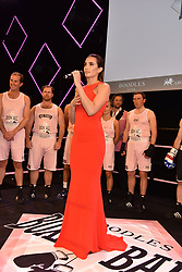 Laura Wright sings the national anthems at the Boodles Boxing Ball, in association with Argentex and YouTube in Support of Hope and Homes for Children at Old Billingsgate London, United Kingdom - 7 Jun 2019 Photo Dominic O'Neil