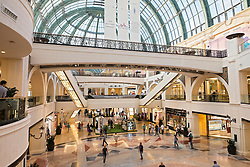 Interior of Mall of the Emirates shopping centre in Dubai United Arab Emirates