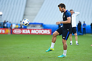 PARIS, FRANCE - JUNE 09: (CHINA OUT) <br /> <br /> Yohan Cabaye of France attends a training session on the eve of the beginning of the Euro 2016 European football championships football match against Romania at Stade de France stadium on June 9, 2016 in Saint-Denis near Paris, France.<br /> ©Exclusivepix Media