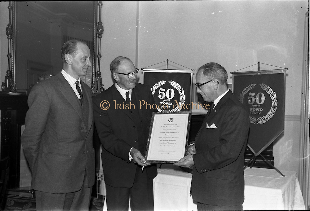 19/06/1963.06/19/1963.19 June 1963.Ford 50 year Service Awards at Shelbourne Hotel, Dublin. Service awards presented to Ford dealers, R.W. Archer and Co. Ltd.