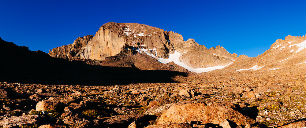 Longs Peak, Estes Park, CO on July 10, 2014.<br /> Photographed by editorial photographer Nathan Lindstrom<br /> <br /> Nathan Lindstrom Photography
