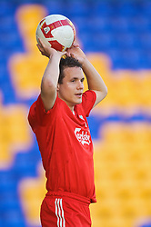 WARRINGTON, ENGLAND - Wednesday, April 29, 2009: Liverpool's Philipp Degen in action against Newcastle United during the FA Premiership Reserves League (Northern Division) match at the Halliwell Jones Stadium. (Photo by David Rawcliffe/Propaganda)