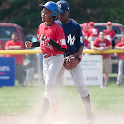 04/14/12 Newark Del. Angels batter Tymier Sewell #8 steals second base in the second inning of a Canal L.L. League game against the Yankees Saturday, April. 14, 2012 at Canal L.L. Complex in Bear Delaware...Special to The News Journal/SAQUAN STIMPSON