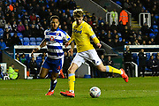 Patrick Bamford (9) of Leeds United on the attack during the EFL Sky Bet Championship match between Reading and Leeds United at the Madejski Stadium, Reading, England on 12 March 2019.