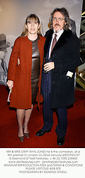 MR & MRS GRIFF RHYS-JONES he is the comedian, at a film premier in London on 22nd January 2003.PGN 57