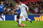 England's Ross Barkleyprepares to shoot during the UEFA European 2016 Qualifier match between England and Estonia at Wembley Stadium, London, England on 9 October 2015. Photo by Shane Healey.