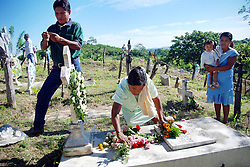 "MEXICO, Veracruz, Tantoyuca, Nov 1- Nov 4, 2009. Making the souls of the dead feel welcome as they return for a yearly visit, Mexicans in this tropical state offer not only elaborate feasts and flower-filled altars, but dancing as well. Masked bands of performers called ""cuadrillos"" rehearse for months their choreography, rich with symbolic roles for men, women, devils, and death itself, then over the course of two nights regale both graveyards and city streets with whoops of laughter, raise-the-roof dancing and music until dawn. Photographs commissioned by HOY Newspaper. More at MexicoCulturalCalendar.com"