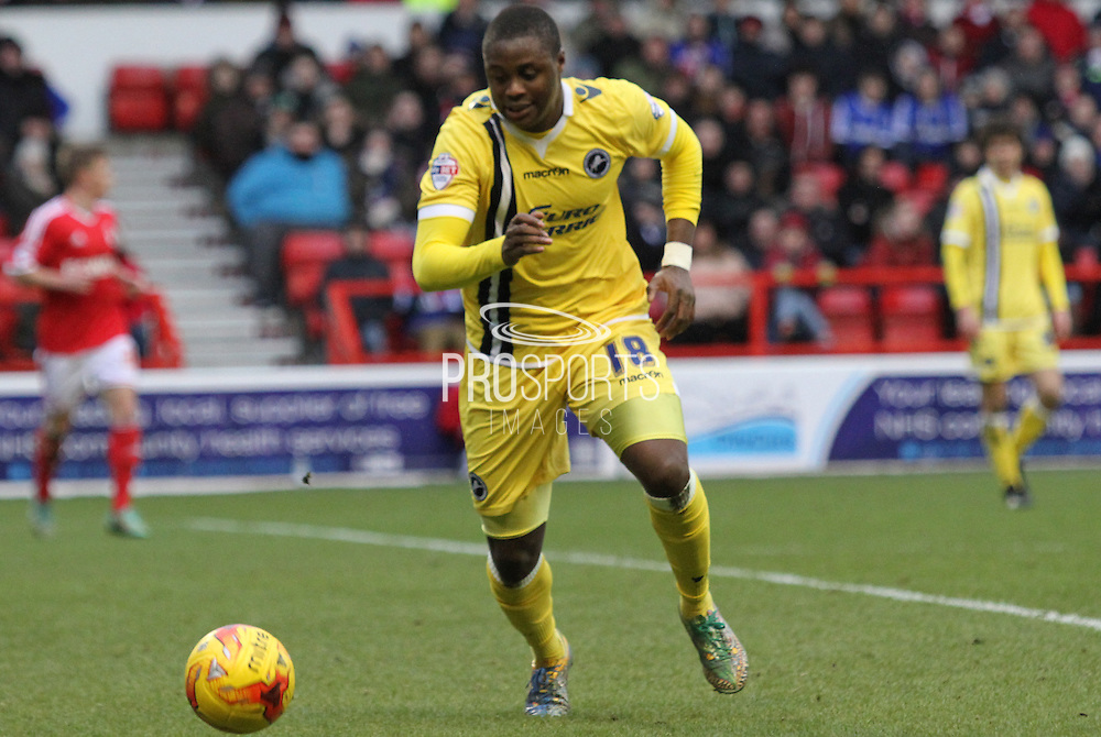 Magaye Gueye during the Sky Bet Championship match between Nottingham Forest and Millwall at the City Ground, Nottingham, England on 31 January 2015. Photo by Jodie Minter.