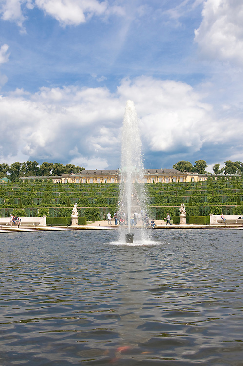 Fountain before the palace of Sanssouci, Potsdam,Germany