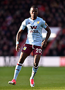 Mbwana Samatta (20) of Aston Villa during the Premier League match between Bournemouth and Aston Villa at the Vitality Stadium, Bournemouth, England on 1 February 2020.