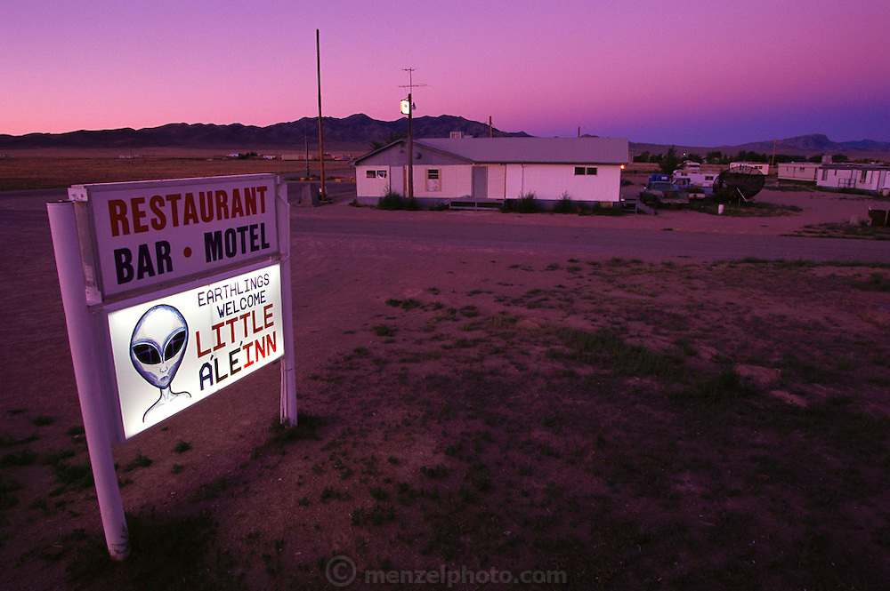 Restaurant called the Little A'Le' Inn in the town of Rachel, Nevada, on Nevada's Highway 375; near top secret airbase known as Area 51. (1999).