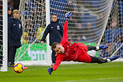 Liverpool goalkeeper Simon Mignolet (22) in warm up during the Premier League match between Brighton and Hove Albion and Liverpool at the American Express Community Stadium, Brighton and Hove, England on 12 January 2019.